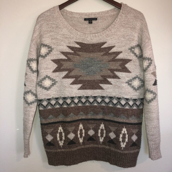 American Eagle Outfitters Sweaters - American Eagle Western Print Grandpa Sweater Small